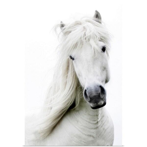 """White on white, white dreamy horse."" Poster Print"