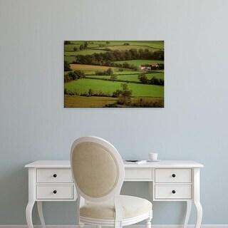 Easy Art Prints Walter Bibikow's 'View Of Farmlands From Glastonbury' Premium Canvas Art