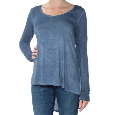 KUT Womens Blue Long Sleeve Boat Neck Top Size: M