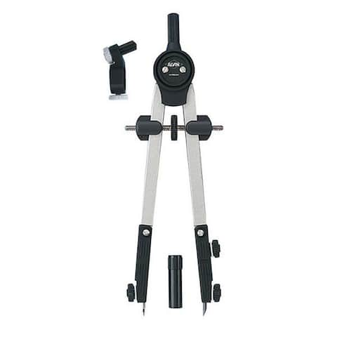 "Alvin Double Break Leg Design Introductory 6"" Bow Compass Divider with Matte Silver Zinc Legs"