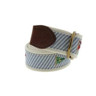 Polo Ralph Lauren Mens Canvas Striped Casual Belt