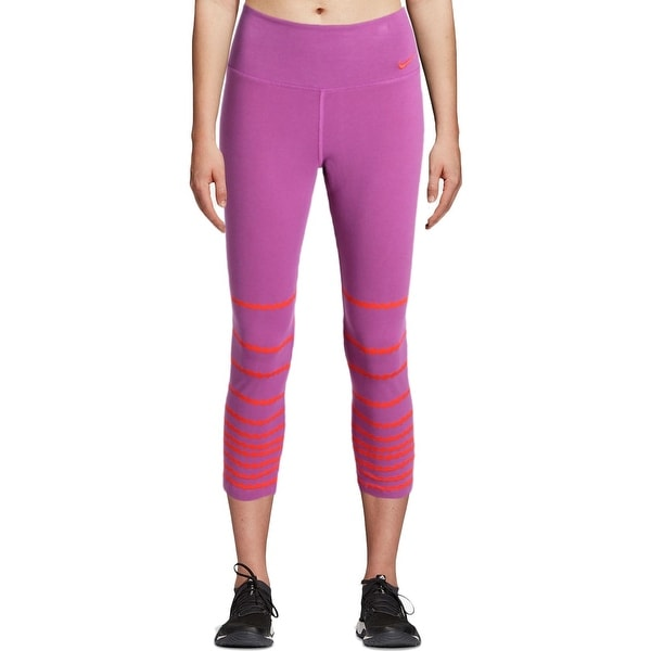 Shop Nike Womens Yoga Pants Colorblock Capri - M - Free Shipping On Orders  Over  45 - Overstock.com - 22366741 7ff58fe21