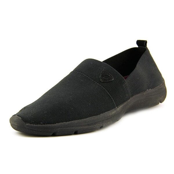 Easy Spirit e360 Quiet Step Women Round Toe Canvas Black Walking Shoe