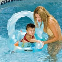 "24"" Inflatable Oyster Shaped Swimming Pool Toddler Seat Set - Blue"