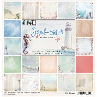 "Sand & Sea Collection Pack 12""X12"" 9/Pkg-9 Designs/1 Each"