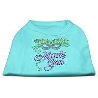 Mardi Gras Rhinestud Shirt Aqua M (12)