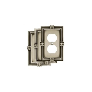 Franklin Brass W10274V-R  Pineapple Single Duplex Outlet Wall Plate - Pack of 3