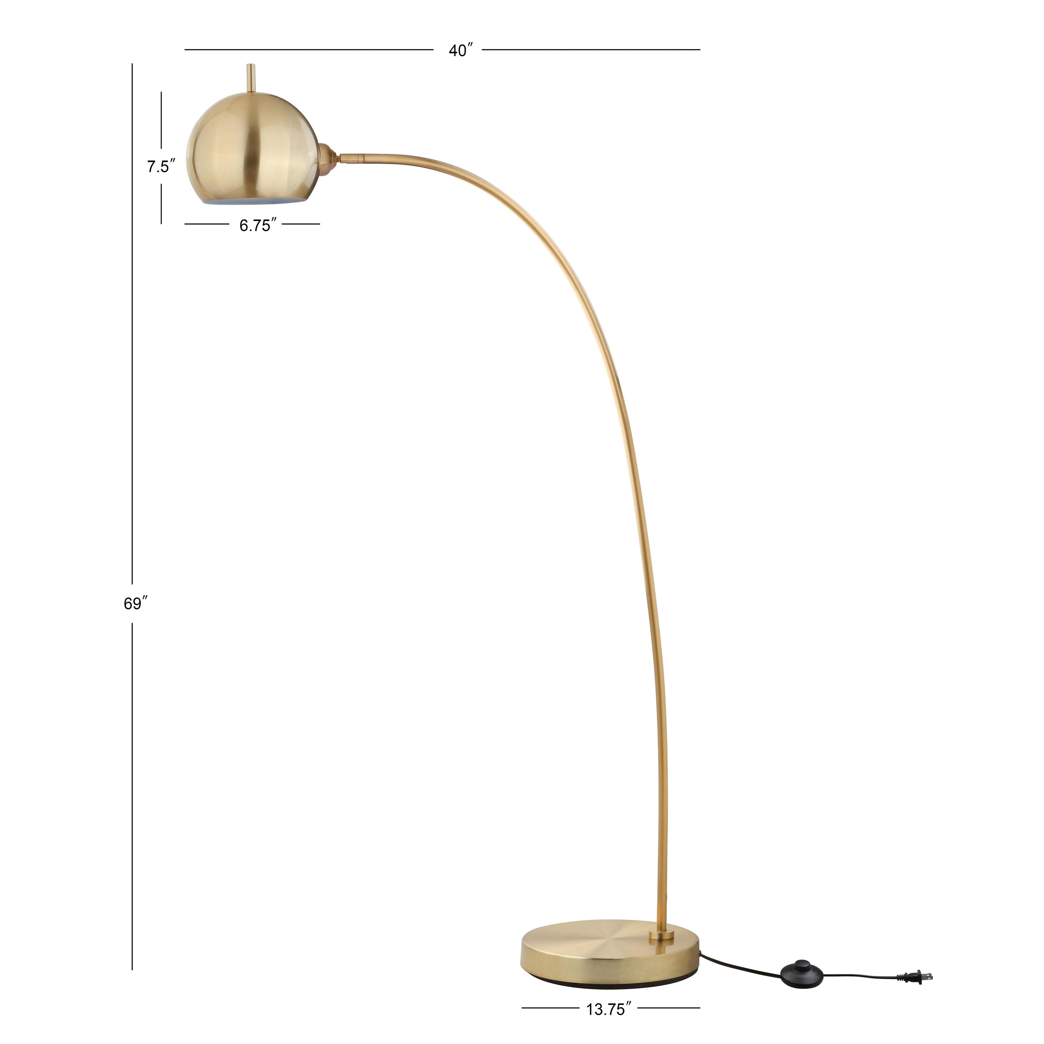 Safavieh Lighting 66 Inch Belami Gold Led Floor Lamp 12 X 12 X 66 Overstock 22238418