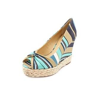 Report Goldie Women Open Toe Canvas Wedge Heel