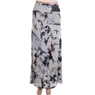 Kensie Womens Maxi Skirt Printed Jersey - M