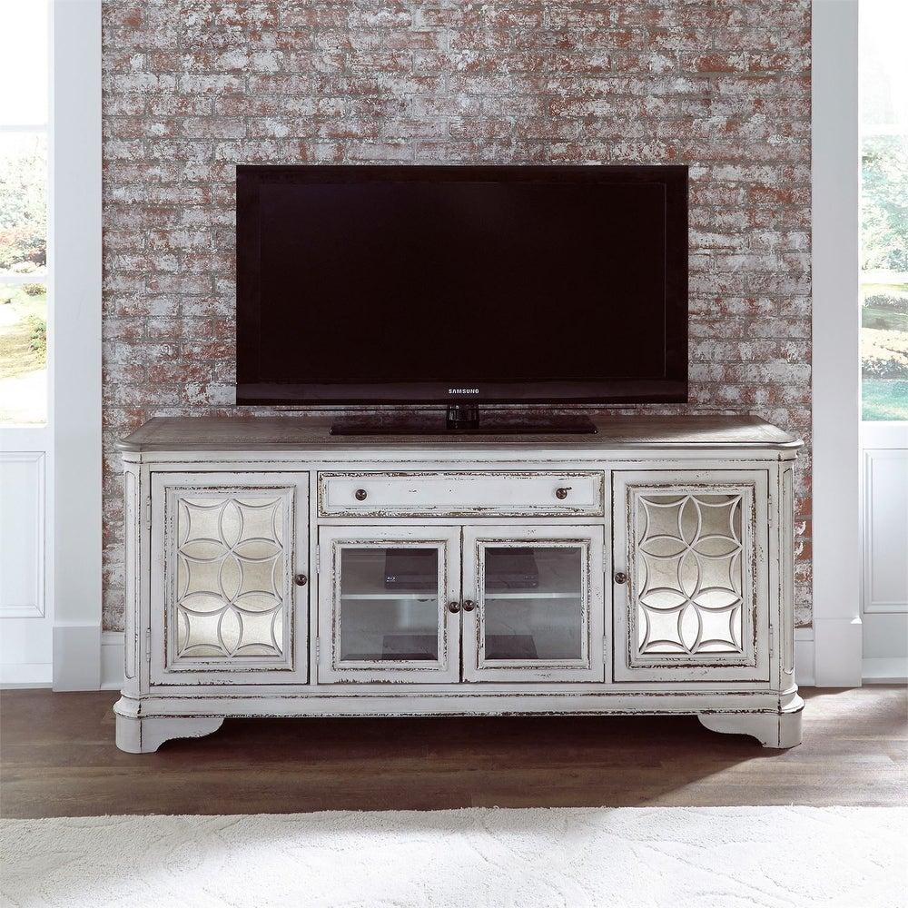 Magnolia Manor Antique White Entertainment TV Stand