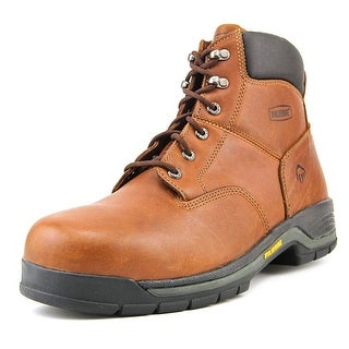 "Wolverine Harrison 6"" EW Round Toe Leather Work Boot"