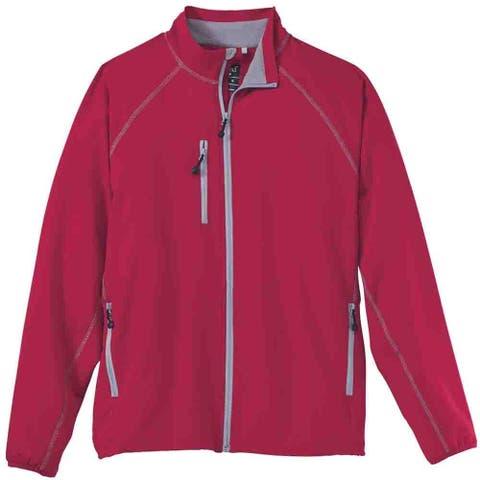 River's End Contrast-Stitch Stretch Jacket Mens Athletic Jacket