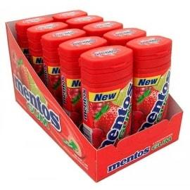 Mentos Gum Bottle Red Fruit & Lime 10 pack (15 ct per pack)