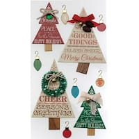Holiday Word Trees - Jolee's Christmas Stickers