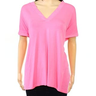 Lauren Ralph Lauren NEW Pink Women's Size XL V-Neck Hi-Low Blouse Top|https://ak1.ostkcdn.com/images/products/is/images/direct/e0ed1a0e5deec514f49b4ab5eb1edda464521e84/Lauren-Ralph-Lauren-NEW-Pink-Women%27s-Size-XL-V-Neck-Hi-Low-Blouse-Top.jpg?impolicy=medium