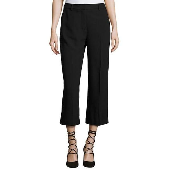 Shop Catherine Malandrino Black Womens Size 4 Cropped Dress Pants