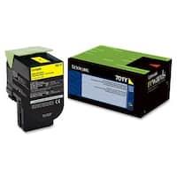 Lexmark 70C10Y0 Lexmark 701Y Yellow Return Program Toner Cartridge - Yellow - Laser - 1000 Page - 1 Each - OEM