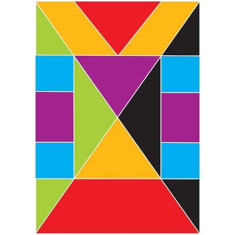 (6 Pk) Math Die Cut Magnet Tangrams