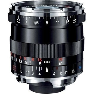 Zeiss Wide Angle 25mm f/2.8 Biogon T* ZM Manual Focus Lens for Zeiss Ikon and Leica M Mount Rangefinder Cameras - Black