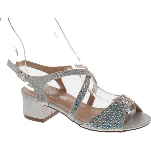 De Blossom Girls K-Kaiser-3 Dress Heel Metallic Party Shoes