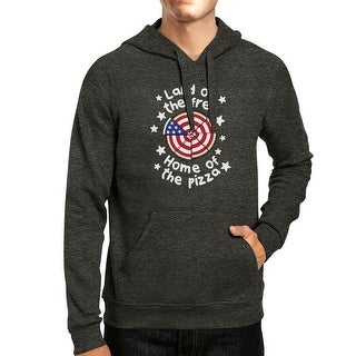 Home Of The Pizza Unisex Dark Grey Funny Graphic 4th Of July Hoodie