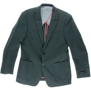 Marc New York Mens Textured Notch Collar Two-Button Suit Jacket