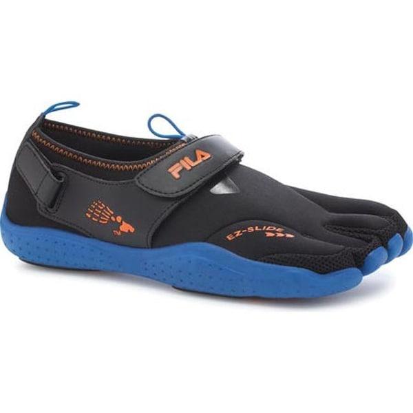 608fe5313b Shop Fila Men's Skele-Toes EZ Slide Drainage Black/Turkish Sea ...