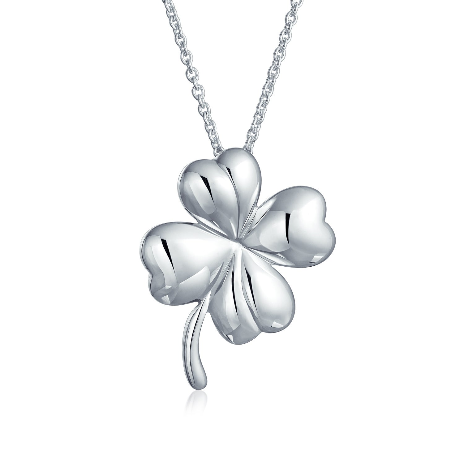 Shop Irish Shamrock Shape Lucky Charm Four Leaf Clover Pendant