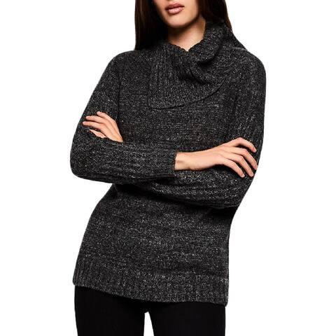 BCBGeneration Womens Pullover Sweater Slub Turtleneck