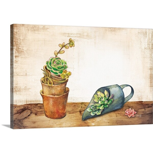 """Vintage Planting Scoop"" Canvas Wall Art"