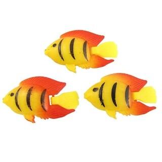 Unique Bargains 3 Pcs Multicolor Plastic Tropical Fish Aquarium Decor Mlhaa Overstock Com Shopping The Best Deals On Fish Tanks