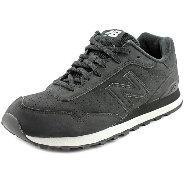 New Balance WL515 Women Round Toe Suede Black Sneakers