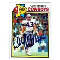 Cliff Harris Autographed Football Card Dallas Cowboys 1979 Topps N db5b8569e