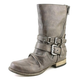 Carlos by Carlos Santana Ashton 2 Women Round Toe Suede Tan Ankle Boot