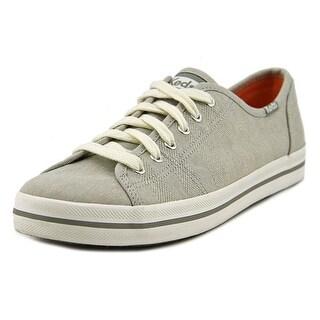 Keds Kickstart Women  Round Toe Canvas Gray Sneakers