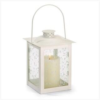 5 3/4 Dia. x 8 H Large Lantern - White