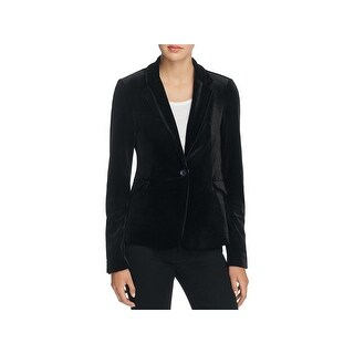 [BLANKNYC] Womens One-Button Blazer Velour Single Vent