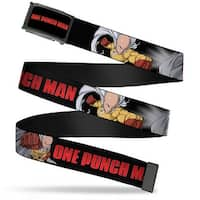 One Punch Man Logo Fcg Black White Red  Chrome One Punch Man Logo Web Belt