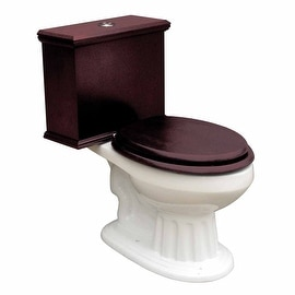 Elongated Toilet with Cherry Tank and White Porcelain Bowl
