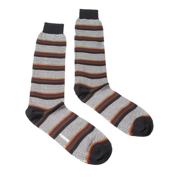 Missoni GM00COU4191 0004 Brown/Orange Striped Knee Length Socks - M