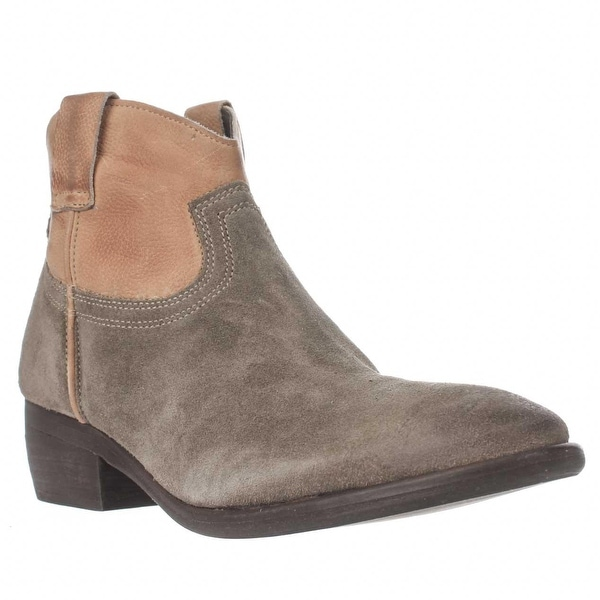 Steve Madden Midnite Western Ankle Boots, Cognac Multi