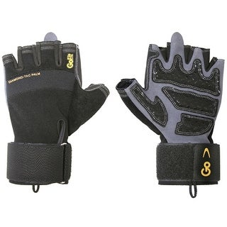 GoFit ProTrainer Wrist Wrap Weight Lifting Gloves - Black