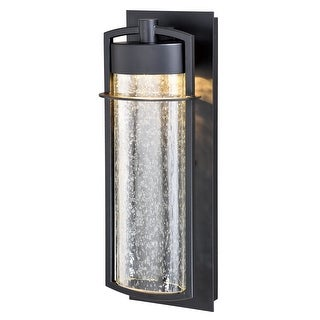 Logan 1 Light LED Cylinder Outdoor Wall Lantern Clear Glass