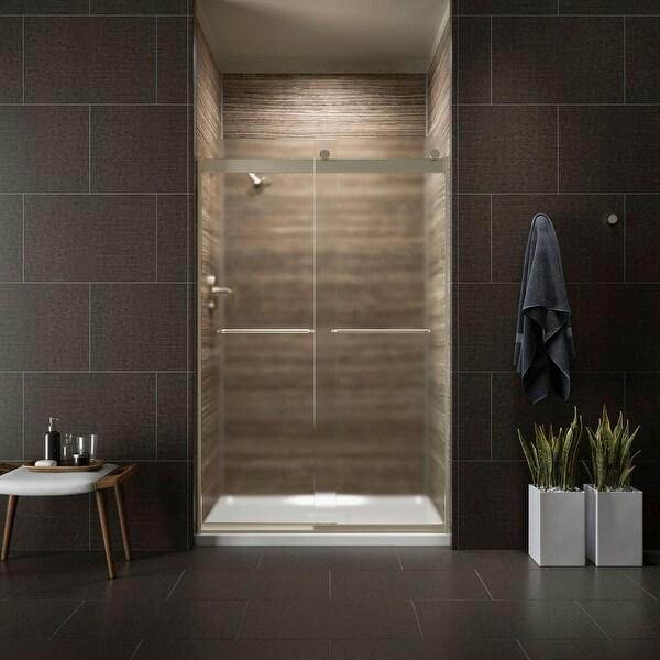 Kohler K 706014 D3 Levity 74 Frosted Sliding Shower Door With Towel Bars