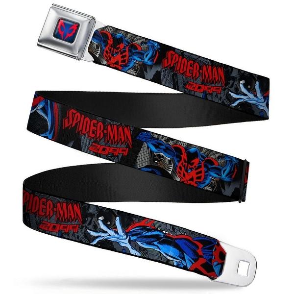 Ultimate Spider Man Spider Man 2099 Face Close Up Full Color Black Fade Red Seatbelt Belt