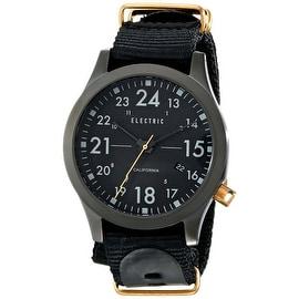 Electric Men's EW0010020006 FW01 All Black Copper Analog Quartz Nylon Band Watch