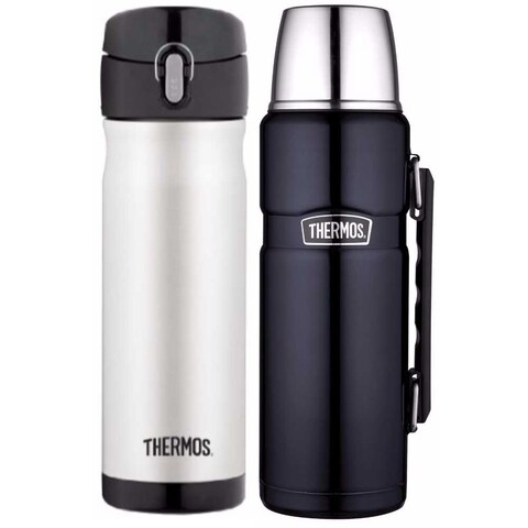 Thermos Insulated 16oz & 40oz Stainless Steel Beverage Bottle Bundle