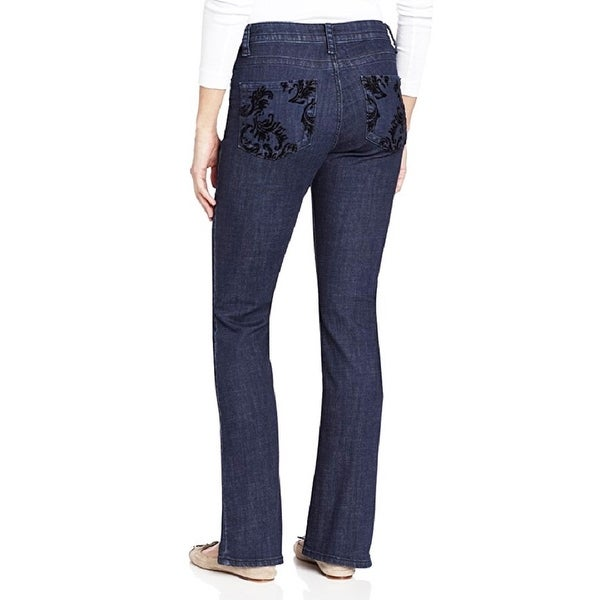 "Lee Misses Slender Secret ""Kate"" Flocked Boot-Cut Jean"
