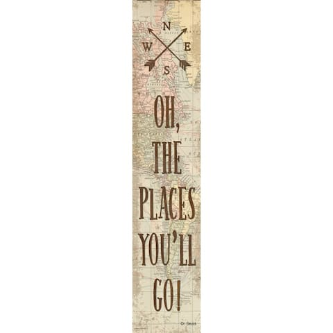 """Travel The Map Oh, the Places You'll Go! Banner, 8"""" x 39"""" - One Size"""